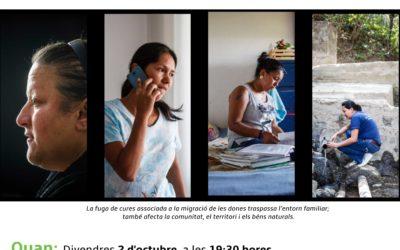 Os invitamos a la proyección de «Cuidar entre terres» con la presentación y cáterig de Mujeres Pa'lante