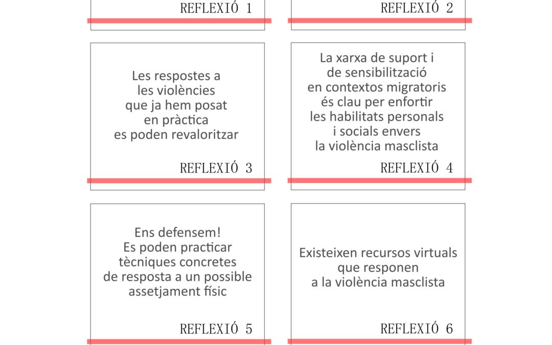 Presentem un recull de reflexions i activitats contra la violència masclista