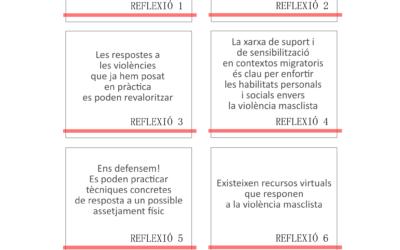 Presentamos una compilación de reflexiones y actividades contra la violencia machista